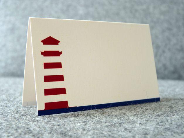 Hochzeitsdeko Tischkartchen Set Leuchtturm Ein Designerstuck