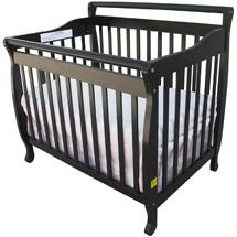Superbe Dream On Me   3 In 1 Fixed Side Portable Convertible Crib, Black