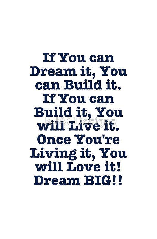 Dream Build Live Love Dream Big Design Graphic T Shirt Dress