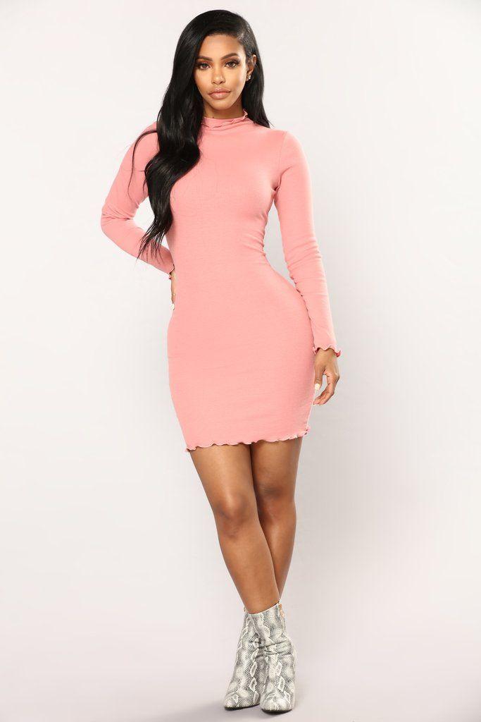 Cinna Ribbed Dress - Rose   Pinterest   Morenas, Vestiditos y México
