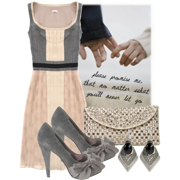 A fashion look from October 2008 featuring Cacharel dresses, Paris Hilton pumps and Monsoon clutches. Browse and shop related looks.