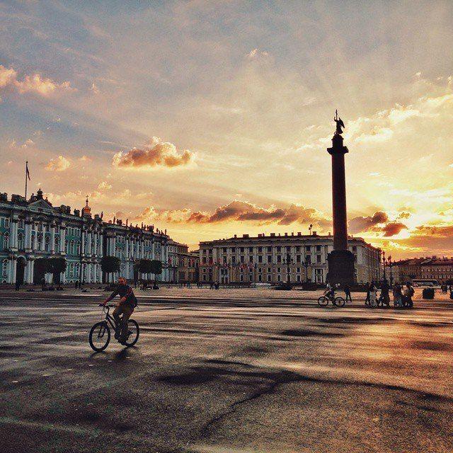 Sunrise on Palace Square St. Petersburg
