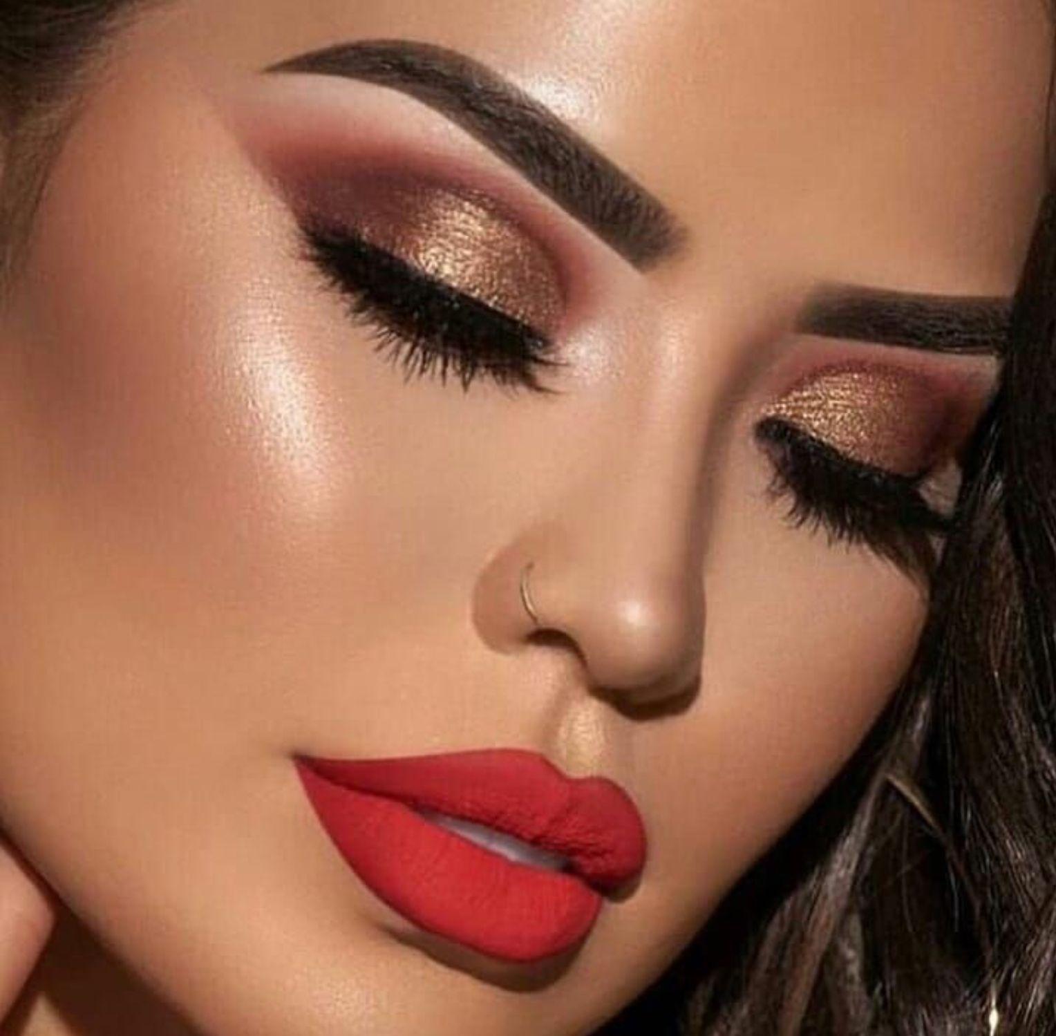 Pin By Brenda Lilas On Beautiful Makeup Prom Eye Makeup Eye Makeup Red Dress Makeup Looks For Red Dress [ 1499 x 1528 Pixel ]