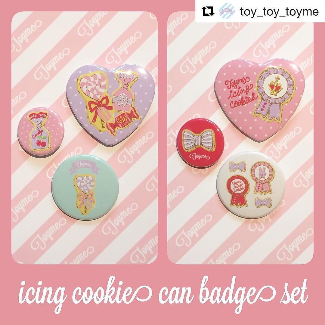 ワンポイントに使いやすい缶バッチセット 7/21発売です  #Repost @toy_toy_toyme  can badge set #icingcookie #canbadges #illustrations #toyme