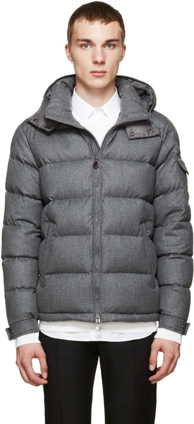 Moncler Grey Down Montgenevre Jacket SSENSE Jackets