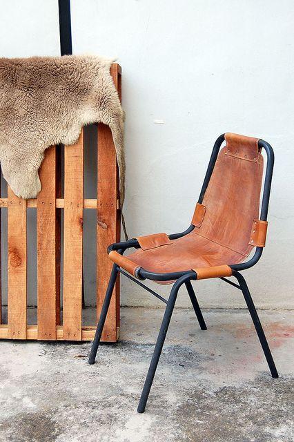 Industriële leren eetkamerstoelen - bruin - eetkamer | furniture ...