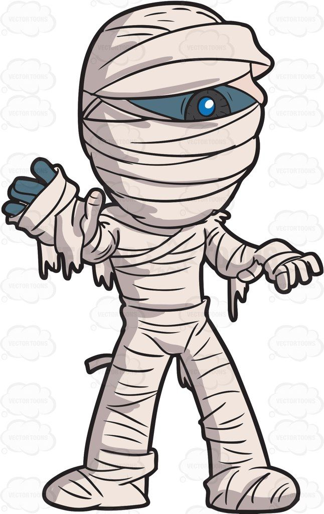 A Scary Mummy Cartoon Clip Art Scary Clips Cartoon