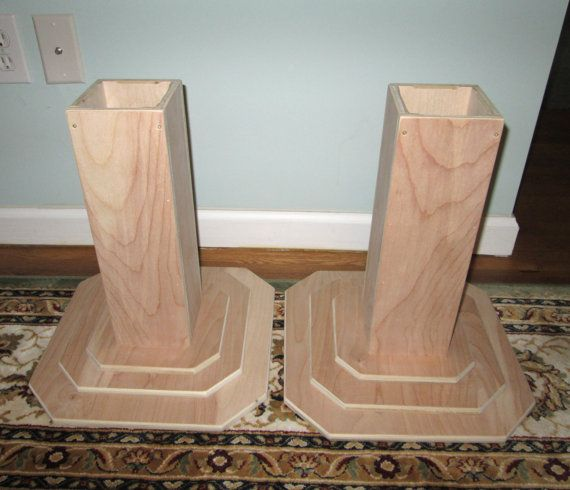 Furniture Risers 14 Inch All Wood Construction Unfinished Square