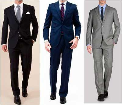 Trajes de vestir hombre
