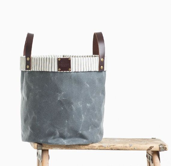 Providing A Distinctive Presence For Your Decor, The Waxed Canvas Storage  Bin Features Ample Space