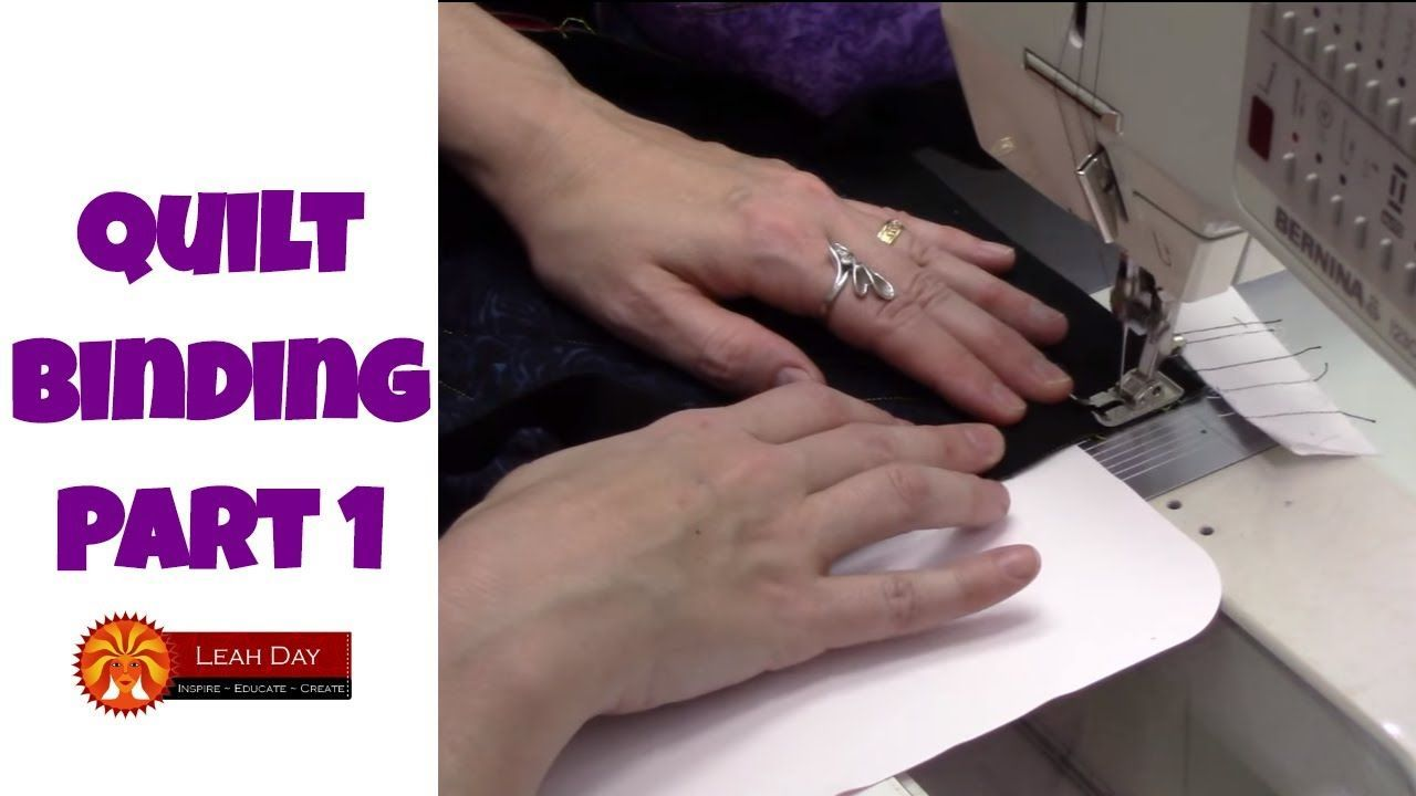 How to bind a quilt with a sewing machine part 1