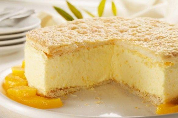 Cheesecake de durazno con hojaldre!