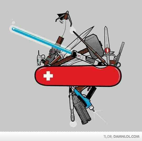 Nerdy Swiss Army Knife Other Nerd Stuff Geek Stuff