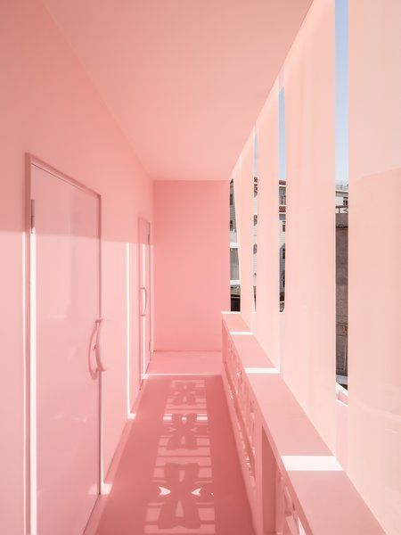 Photo 14 of 17 in These Pink and Blue Homes Use Gender as a Metaphor…