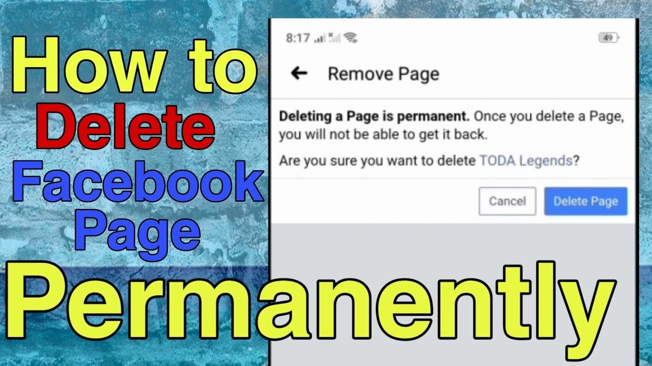 How To Delete Facebook Page On Mobile 2020 Facebook Tutorial In