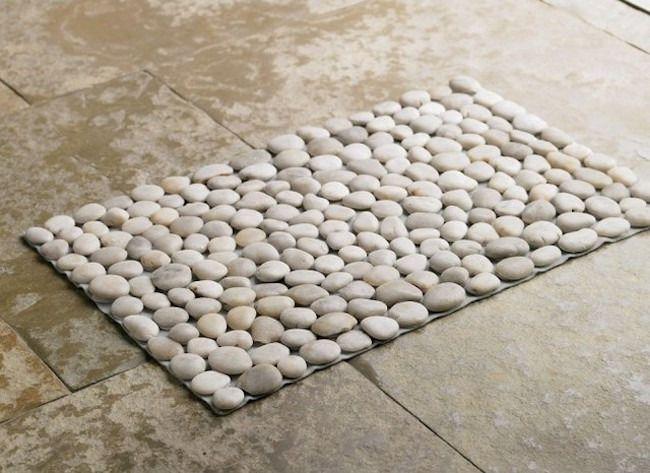 Nature Bathroom Flooring with Stone Floor containing: Pebble Bath ...