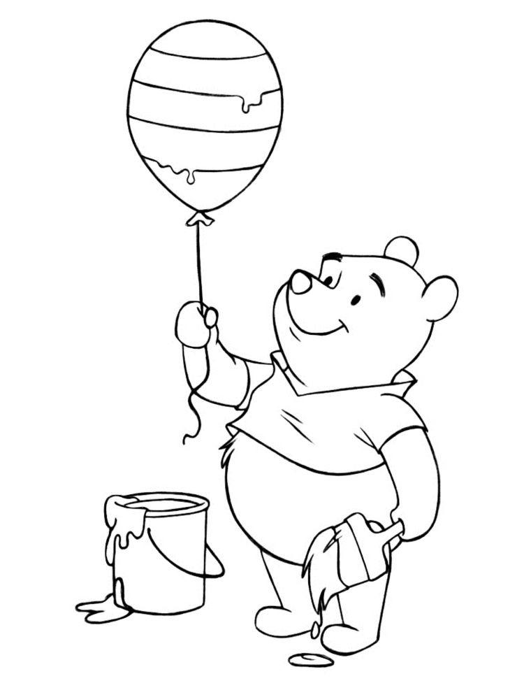 Pu Der Bär Ausmalbild Für Kleinkinder Ausmalbilder Pinte