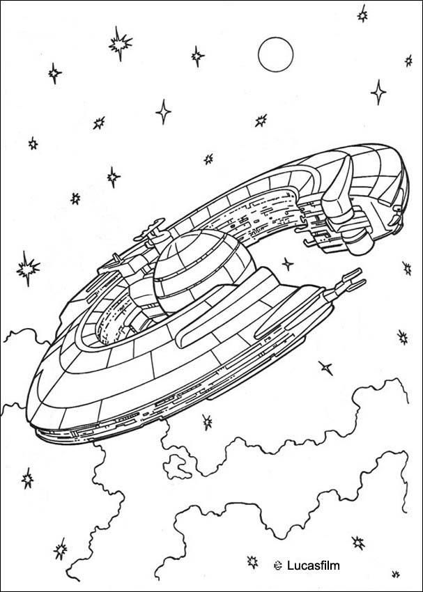 Trade Federation Cruiser Coloring Page Star Wars Coloring Book