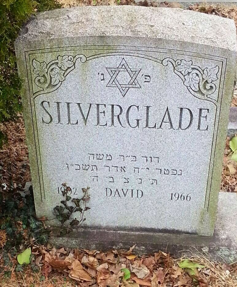 I was named after Uncle Dave Silverglade. This is his headstone in NJ.