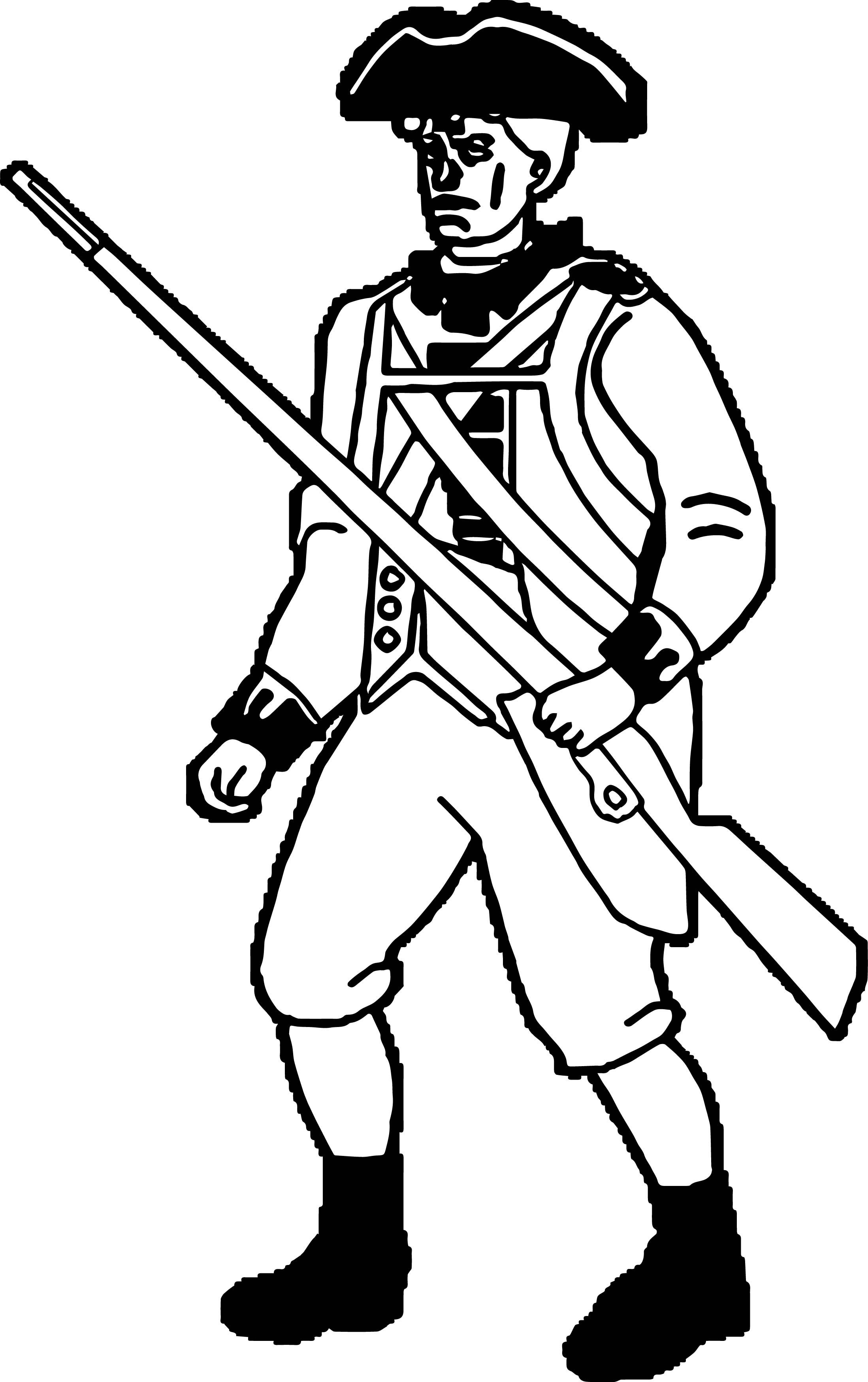 Nice American Revolution Soldier Coloring Page American