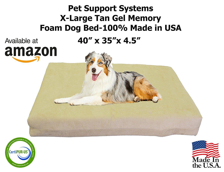 TOP DOG XL Orthopedic Gel Memory Foam Pet Bed 40' X 35' X