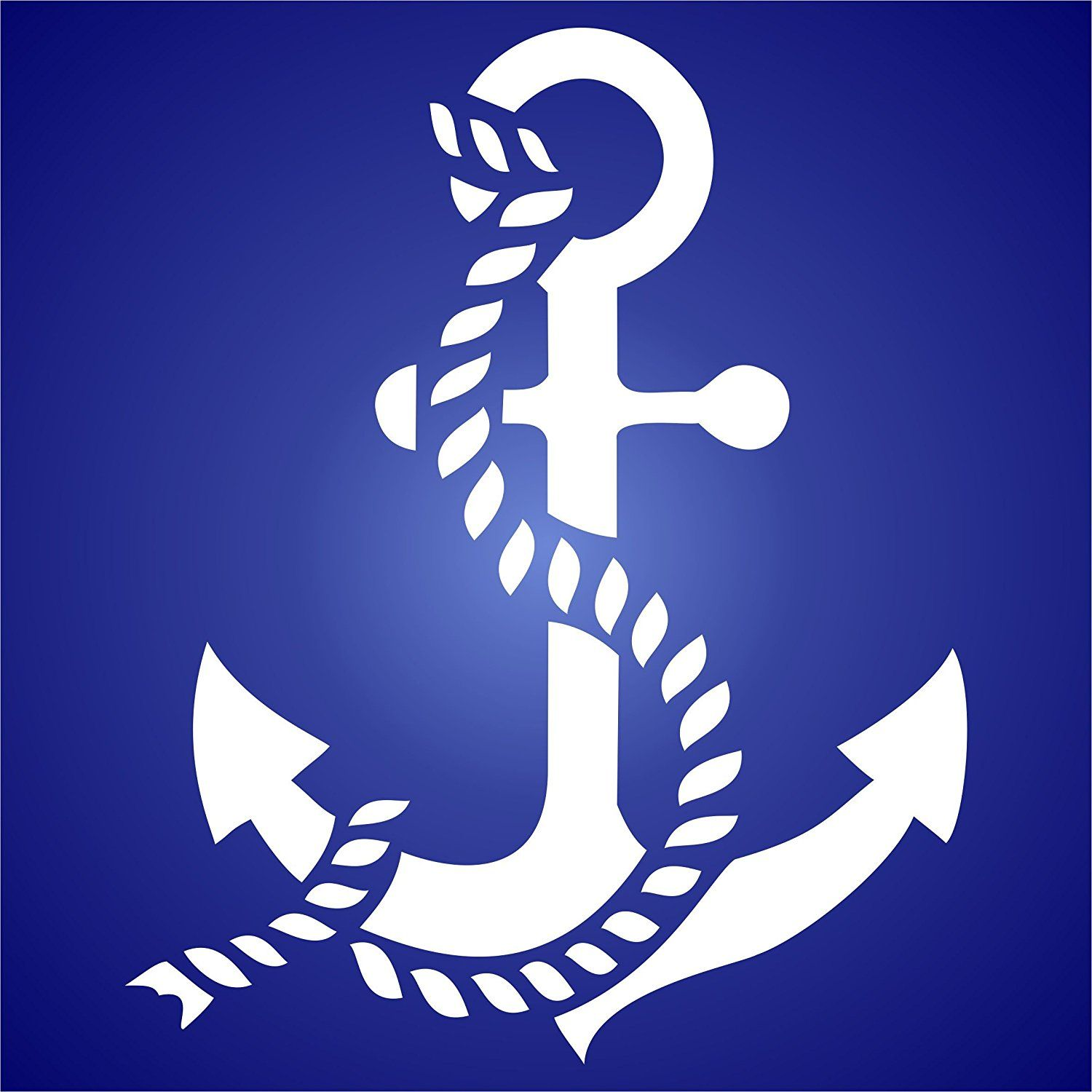 Stencils for Walls' new Anchor Stencil is any beach and ...