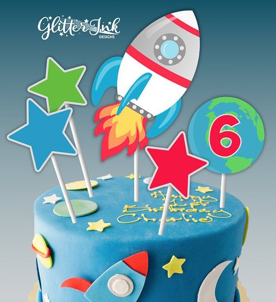 Fantastic 1St Birthday Cake Topper Rocket Birthday Topper 1St Birthday Happy Funny Birthday Cards Online Sheoxdamsfinfo