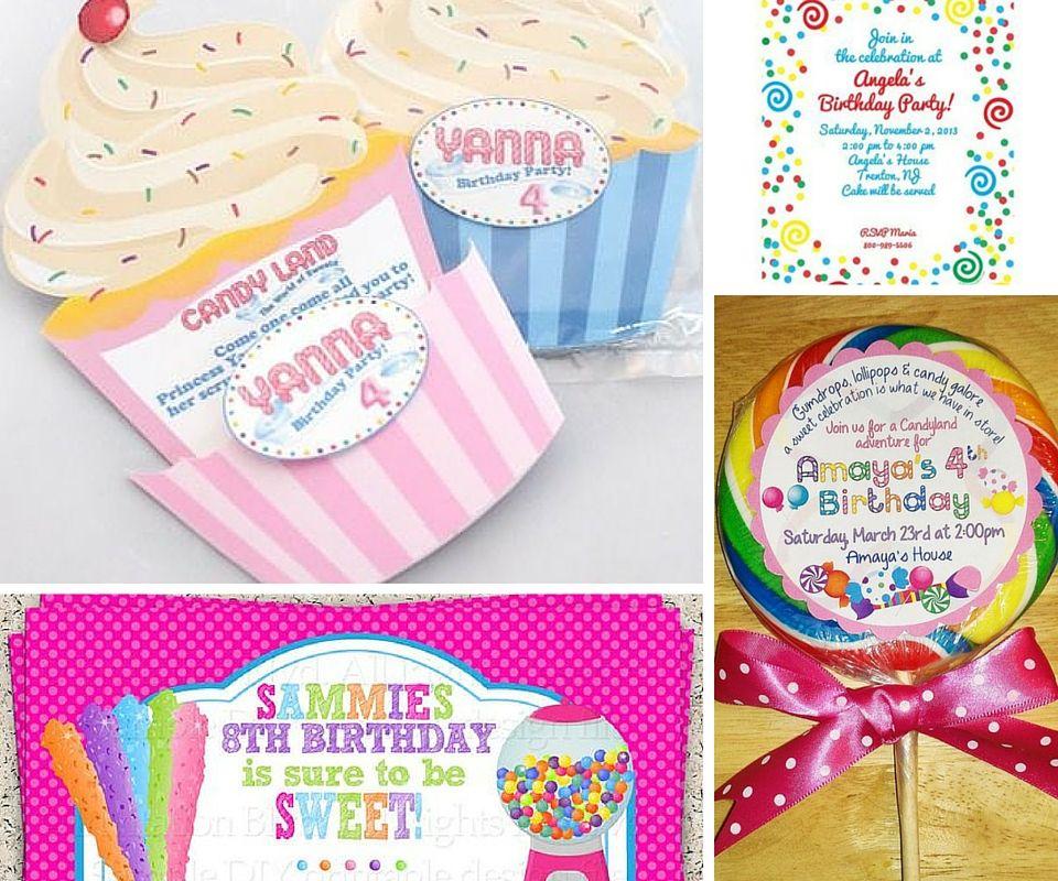Candyland Invites | Angelique\'s 1st birthday | Pinterest | Candyland ...