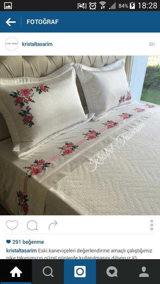 Kanavice pike | ev tekstili | Pinterest | Bettwaesche und Häkeln