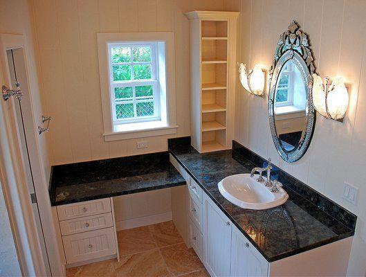 L Shaped Vanity Google Search L Shaped Bathroom Bathroom With