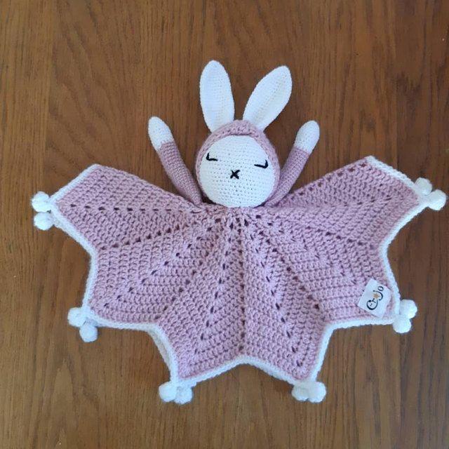 Bunny crochet lovey | Hattie The Bonnie Bunny security blanket | Crochet Pattern PDF | PATTERN ONLY in English #securityblankets