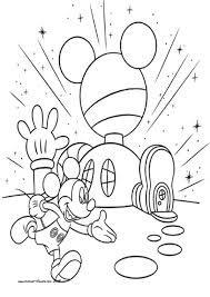 La Casa De Mickey Mouse Para Colorear E Imprimir Buscar Con