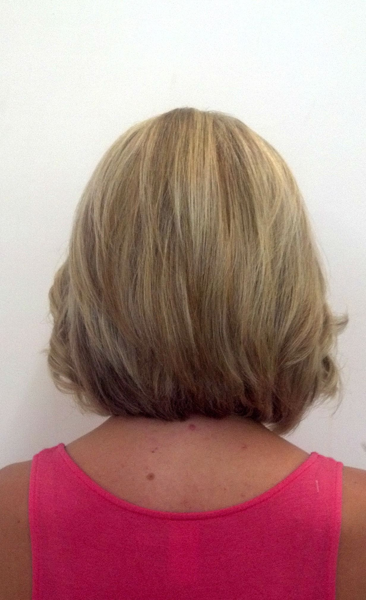 Back view of bob haircut The New You Salon Creations