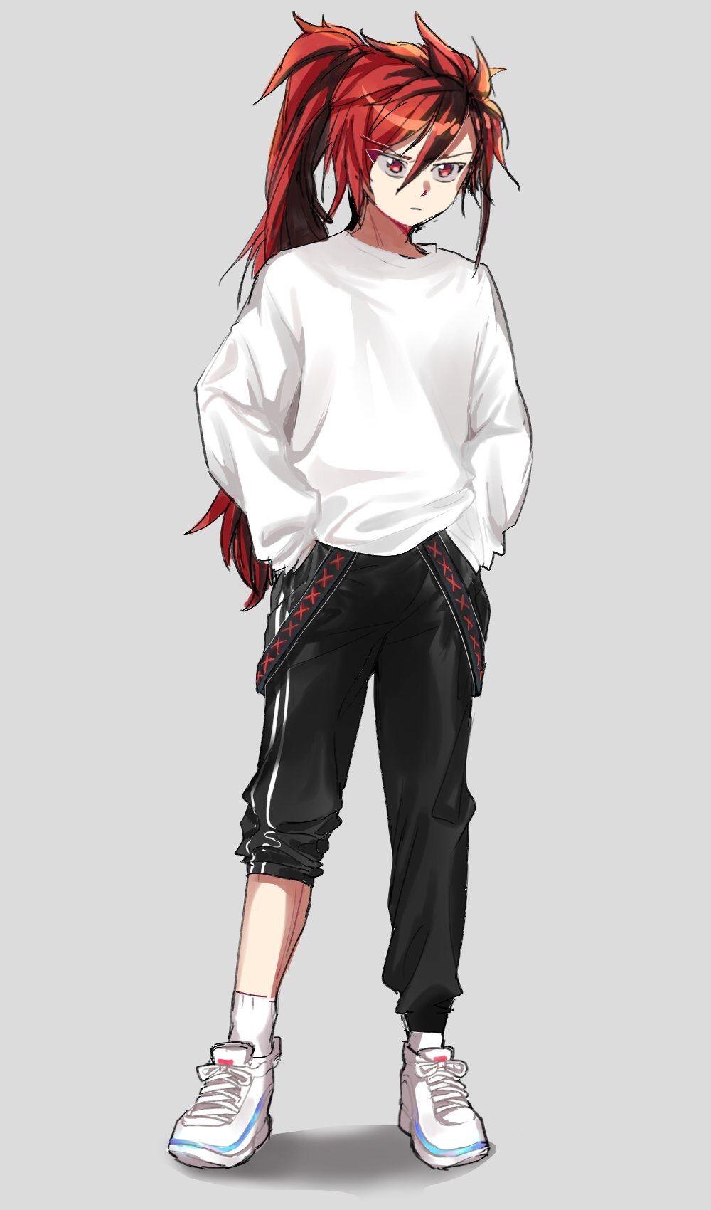 다 비 on Red hair anime guy, Anime ponytail, Elsword
