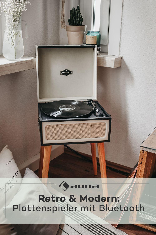 Sarah Ann Plattenspieler Bluetooth Usb 33 45 Und 78 U Min Schwarz Creme Plattenspieler Retro Plattenspieler Usb