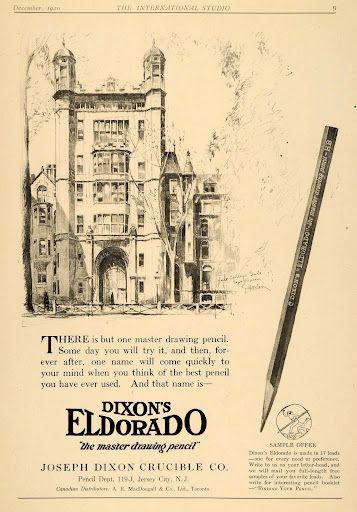 Dixon Eldorado Master Drawing Pencil Advertisement
