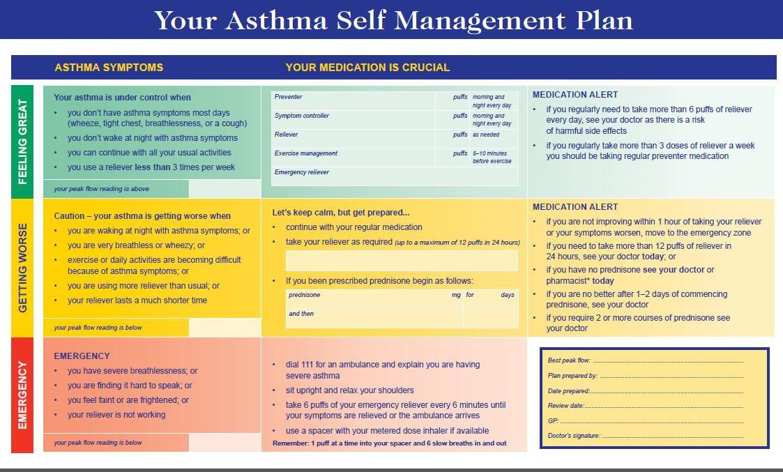 Asthma Action Plan  Nursing