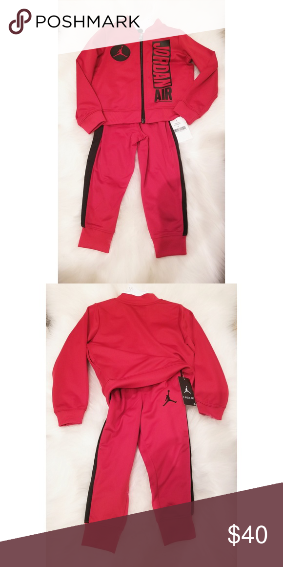 846840b6268c07 Toddler jordan tracksuit Red and black New with tag Size 2t Jordan Matching  Sets