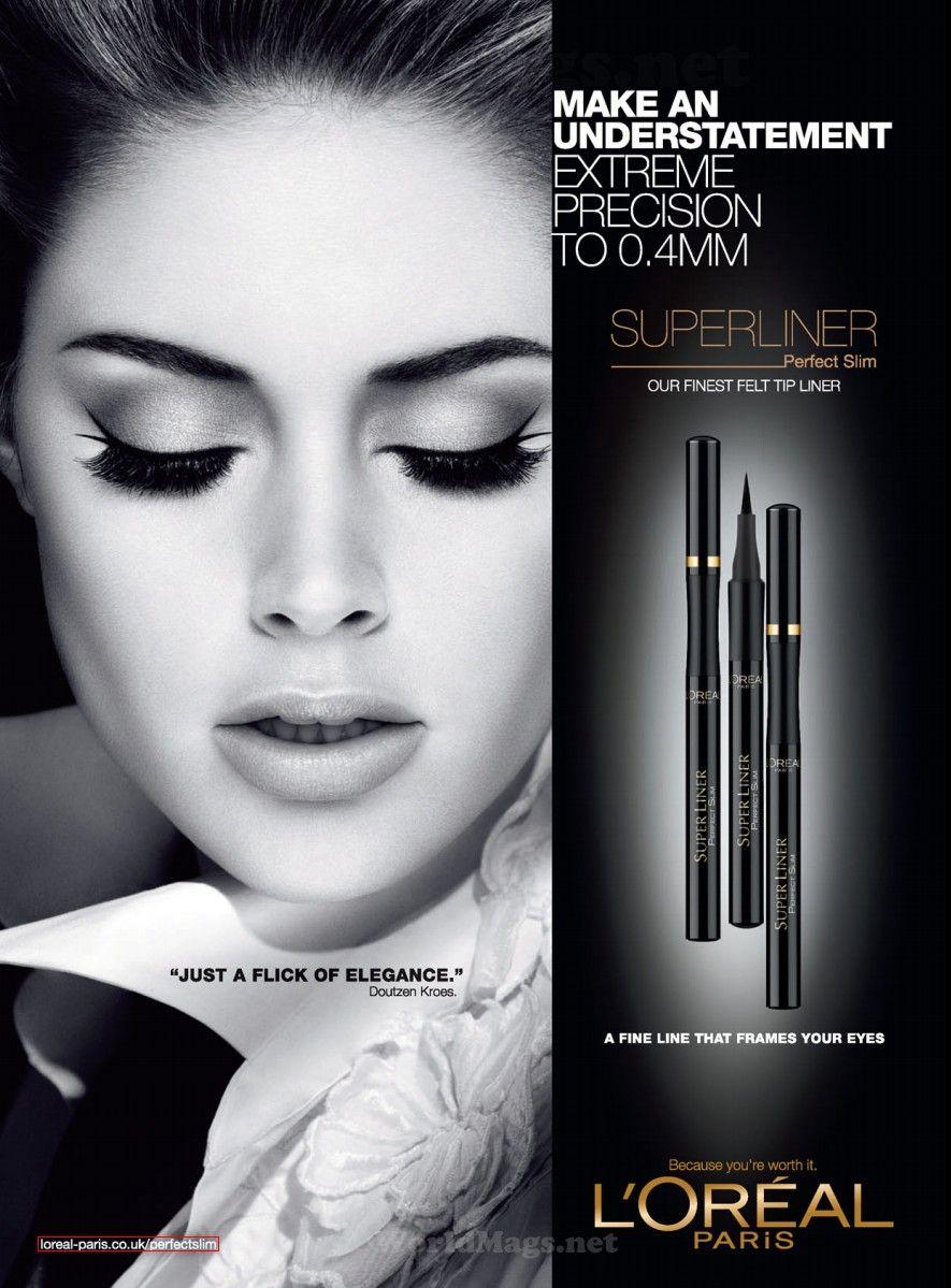 L'Oréal Paris Cosmetic Advertising with Doutzen Kroes ...