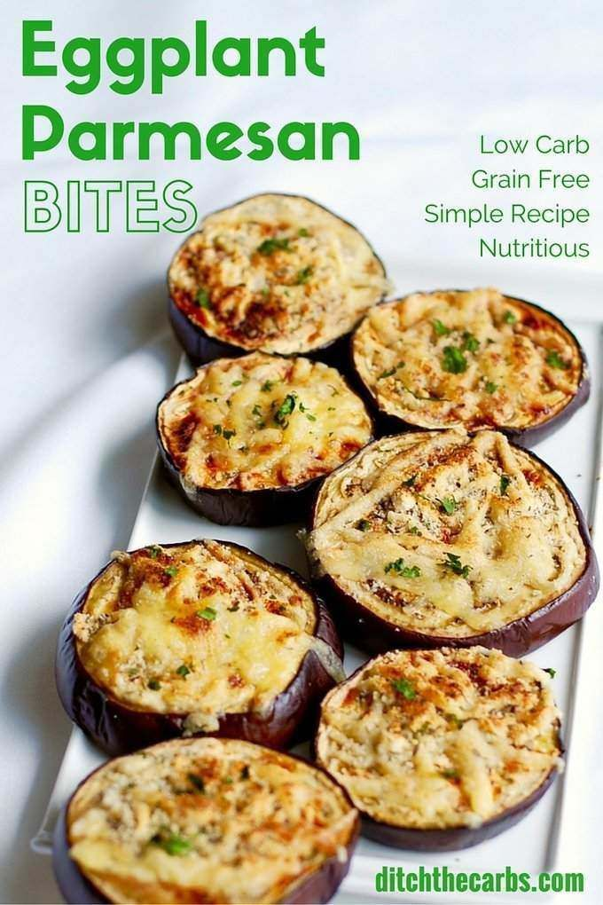 Low Carb Eggplant Parmesan Bites Recipe Food Recipes Vegan