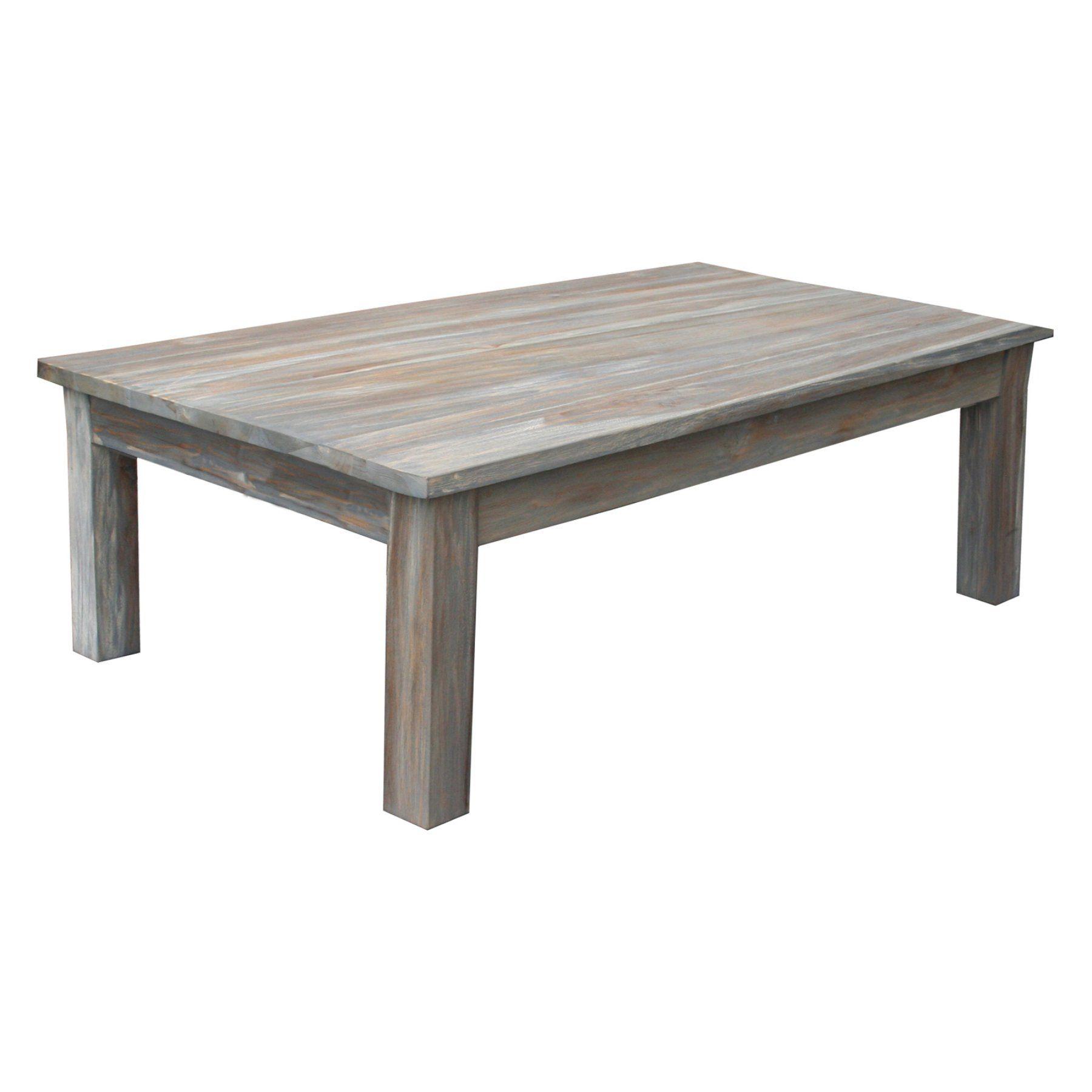 Chic Teak Teak Wood Gray Wash Rustic Indoor Outdoor Coffee Table Coffee Table Rustic Coffee Tables Outdoor Coffee Tables