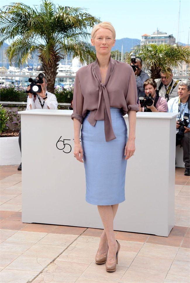Tilda Swinton, the perfect style