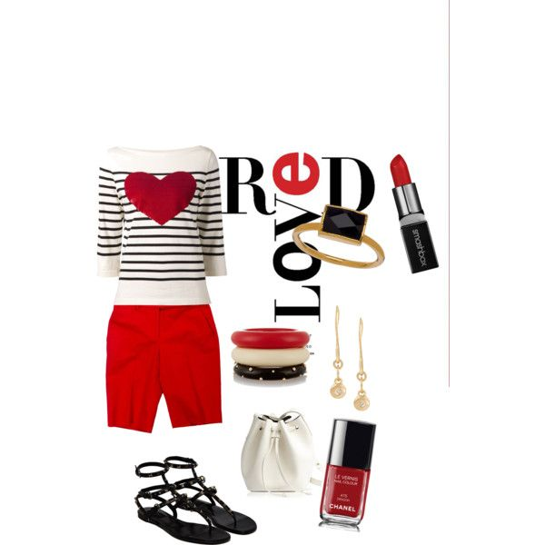 love in red by marsha-tucker-fultz on Polyvore featuring polyvore fashion style Marc Jacobs Michael Kors Valentino Rachael Ruddick Melissa Joy Manning Kenneth Jay Lane Janna Conner Designs Smashbox Chanel