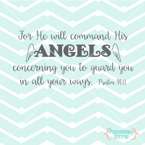 View For He Will Command His Angels To Guard You In All Ways DXF