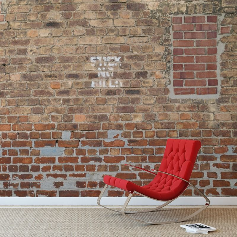 Stitch Brick - Robin Sprong Wallpapers Murs * papiers peints