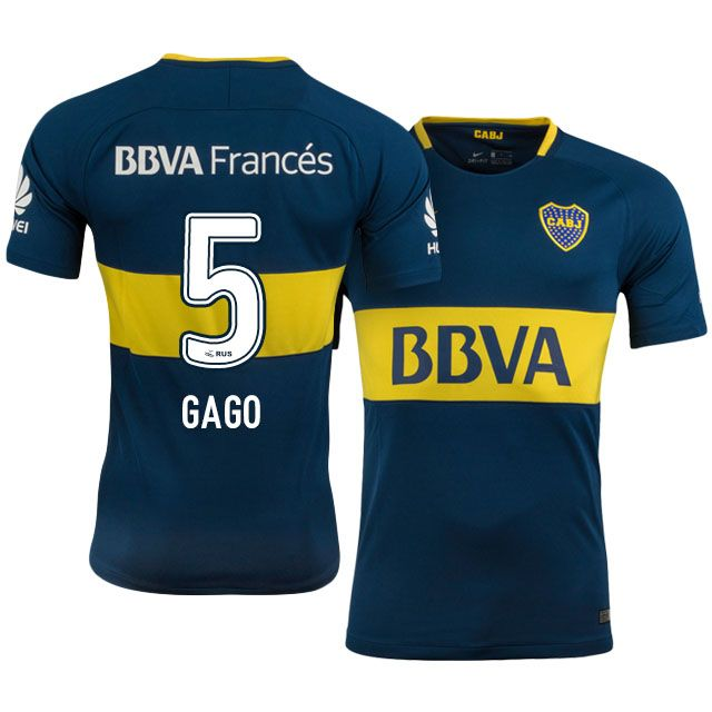 best website 45965 06629 17-18 Boca Juniors Jersey fernando gago Home Kit | Boca ...