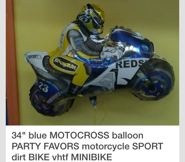 Blue Custom Motorbike Supershape Foil Balloon