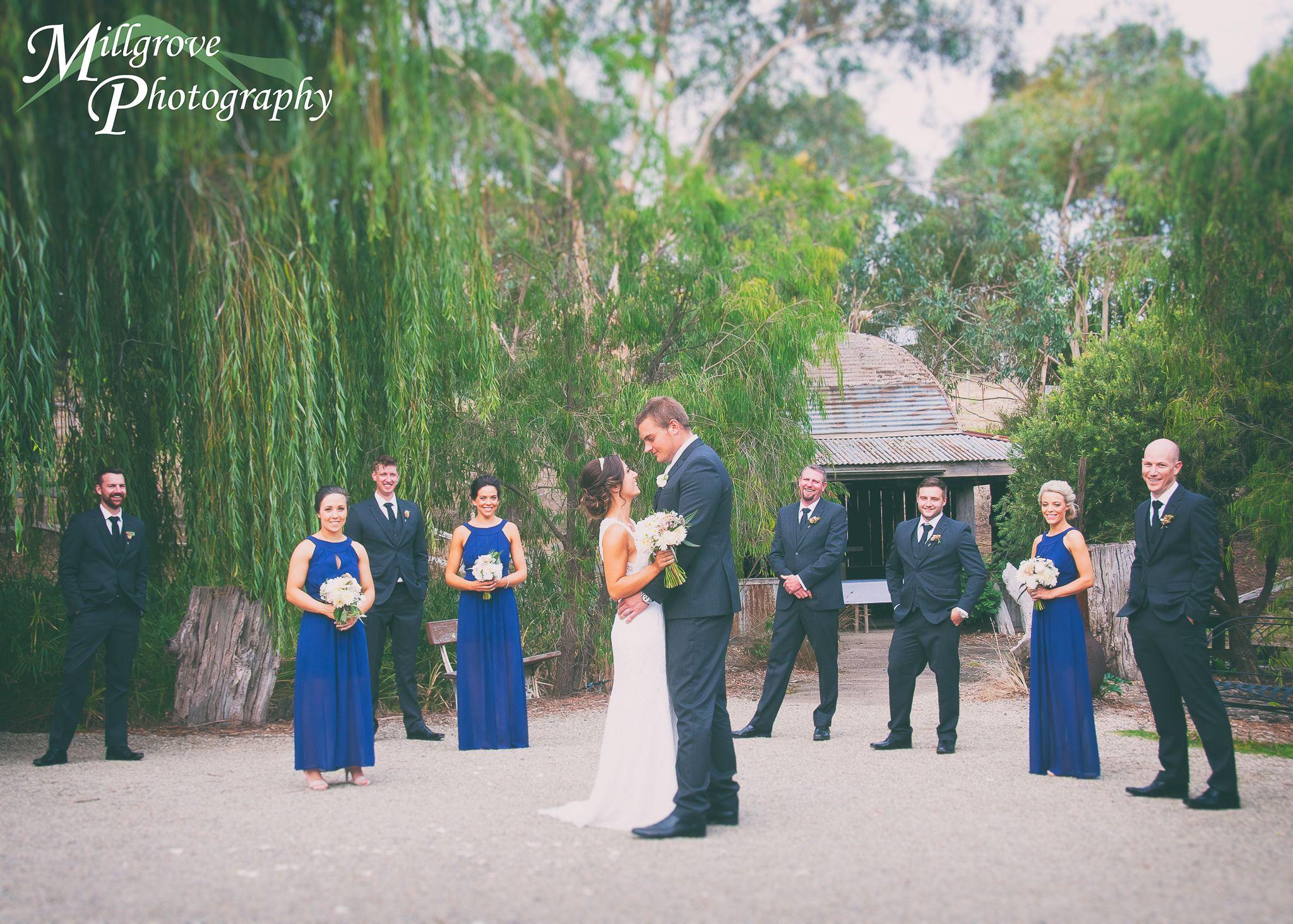 Bridal party - bride, groom, wedding, Inglewood Estate