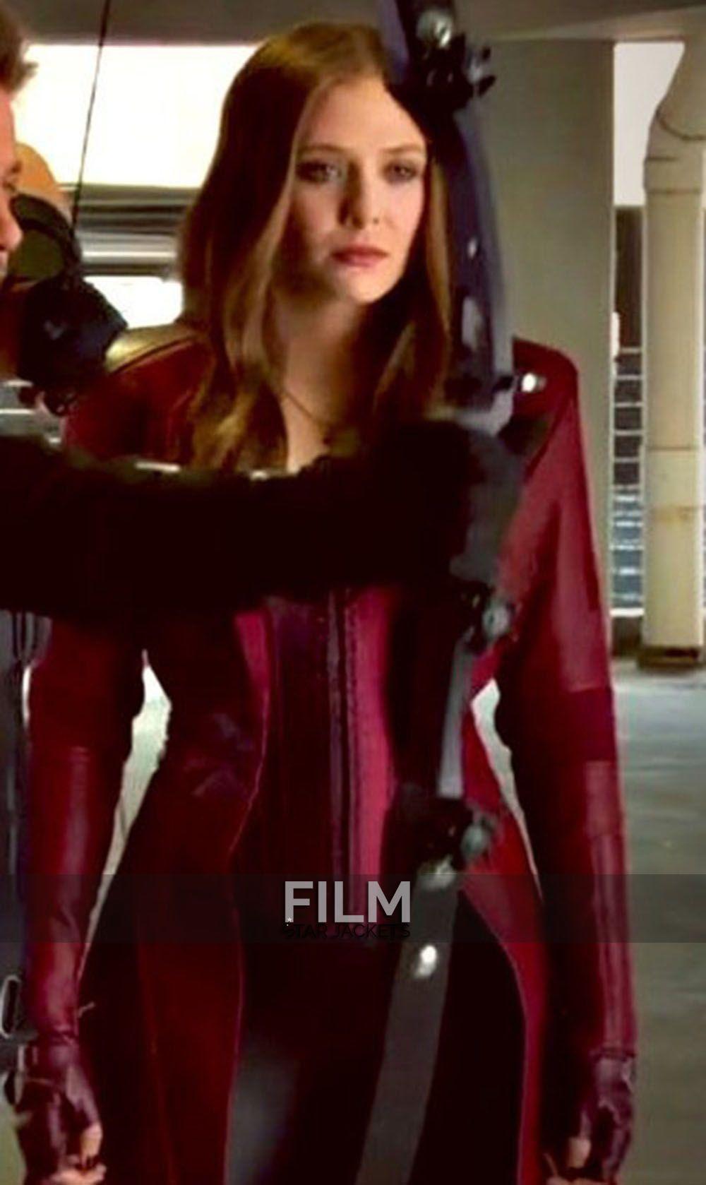 Elizabeth Olsen Captain America Civil War Red Coat Captain America Civil War America Civil War Red Costume