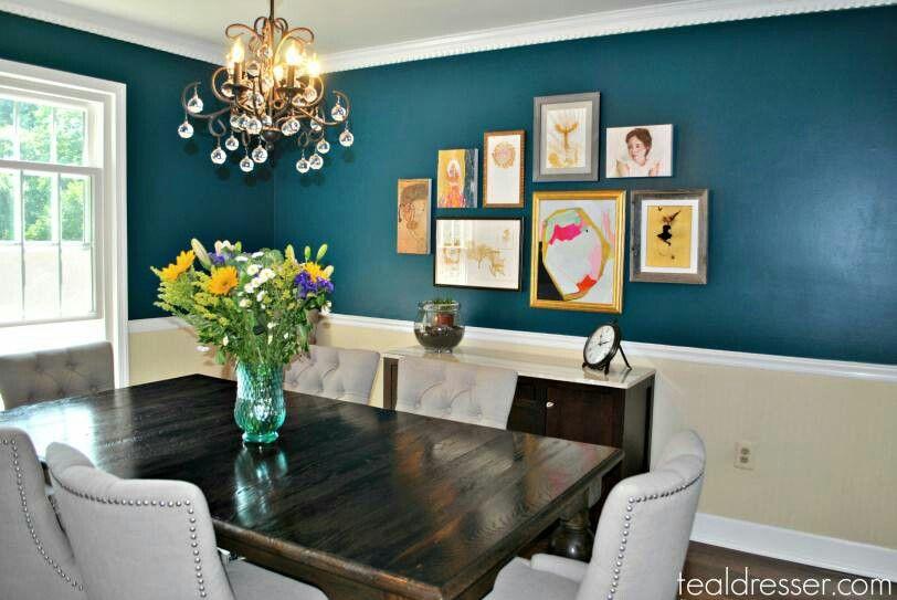 Teal Blue Dining Room Farm Table Chair Rail Lglimitlessdesign Contest Dining Room Teal Dining Room Blue Dining Room Colour Schemes #teal #and #blue #living #room